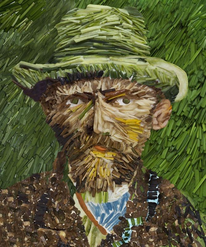 Ces reproductions de peintures célèbres réalisés avec des légumes