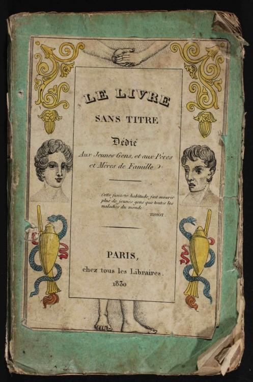 livre sans titre 1830 danger masturbation 01 497x750 Le Livre Sans Titre, 1830   Les dangers de la masturbation