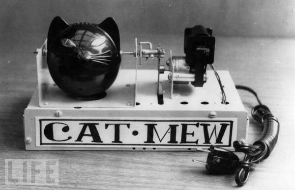 Machine à miauler pour faire peur aux souris - 1963