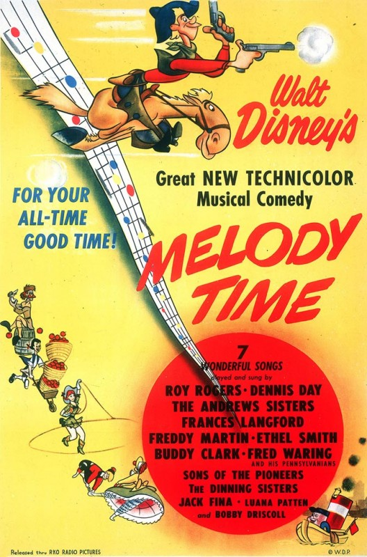 1948 Melody Time Poster 528x800 Les affiches des 53  films Disney de 1937 à 2013  design cinema 2 art