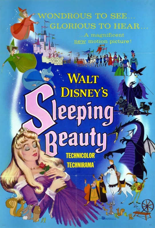 1959 Sleeping Beauty Poster 543x800 Les affiches des 53  films Disney de 1937 à 2013  design cinema 2 art