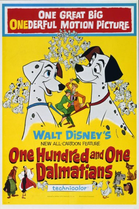 1961 One Hundred and One Dalmatians Poster 532x800 Les affiches des 53  films Disney de 1937 à 2013  design cinema 2 art