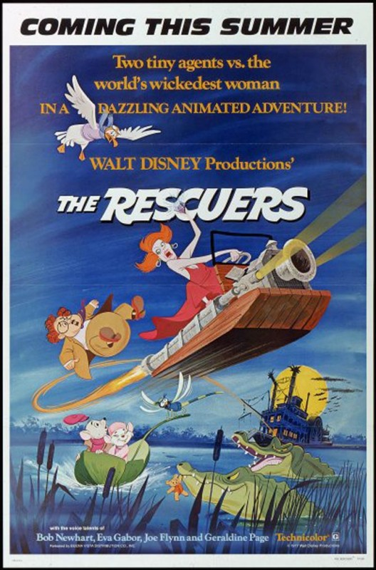 1977 The Rescuers Poster 528x800 Les affiches des 53  films Disney de 1937 à 2013  design cinema 2 art