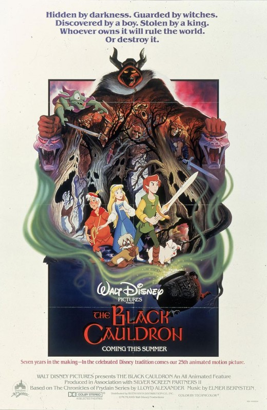 1985 The Black Cauldron Poster 520x800 Les affiches des 53  films Disney de 1937 à 2013  design cinema 2 art