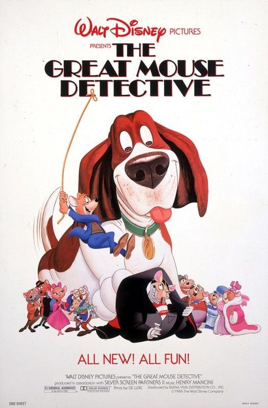 1986 The Great Mouse Detective Poster 525x800 Les affiches des 53  films Disney de 1937 à 2013  design cinema 2 art