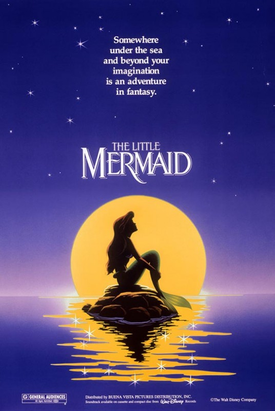 1989 The Little Mermaid Poster 536x800 Les affiches des 53  films Disney de 1937 à 2013  design cinema 2 art
