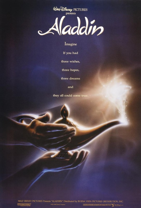 1992 Aladdin Poster 543x800 Les affiches des 53  films Disney de 1937 à 2013  design cinema 2 art