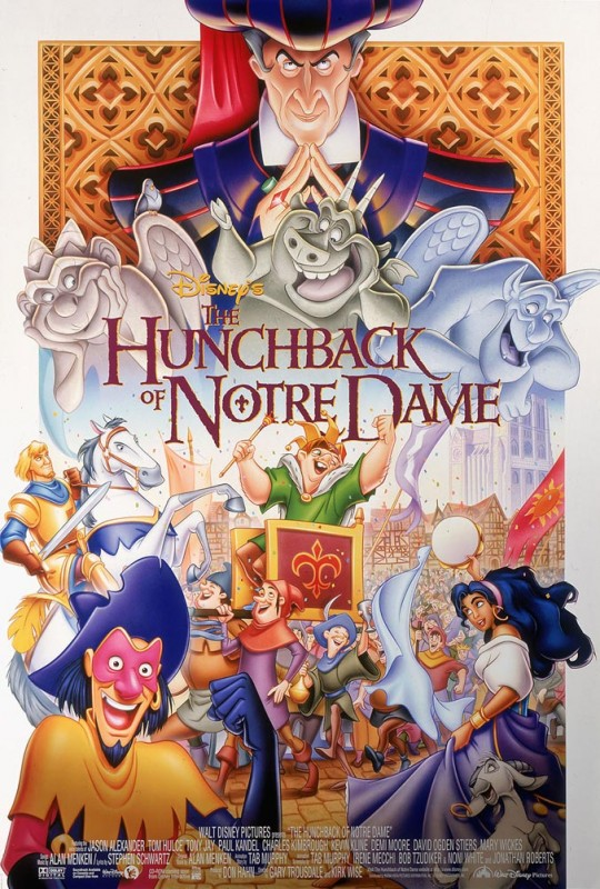 1996 The Hunchback of Notre Dame Poster 540x800 Les affiches des 53  films Disney de 1937 à 2013  design cinema 2 art