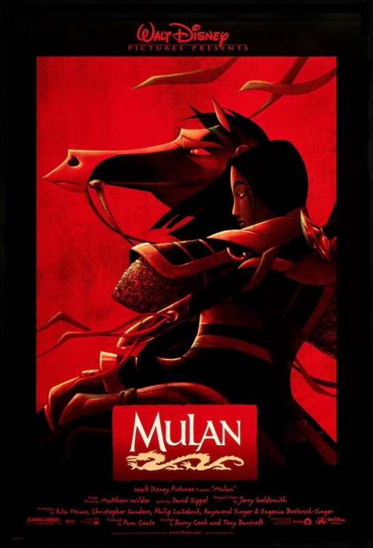 1998 Mulan Poster 545x800 Les affiches des 53  films Disney de 1937 à 2013  design cinema 2 art