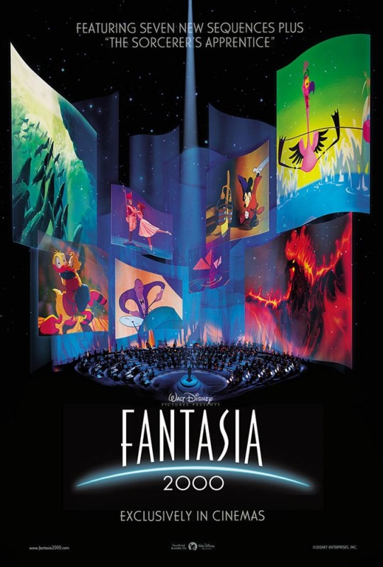 1999 Fantasia 2000 Poster 541x800 Les affiches des 53  films Disney de 1937 à 2013  design cinema 2 art