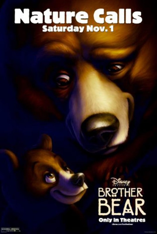 2003 Brother Bear Poster 538x800 Les affiches des 53  films Disney de 1937 à 2013  design cinema 2 art