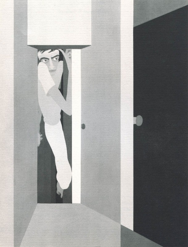 03 Claustrophobia John Vassos 609x800 Les phobies illustrées de John Vassos  peinture 2 design art