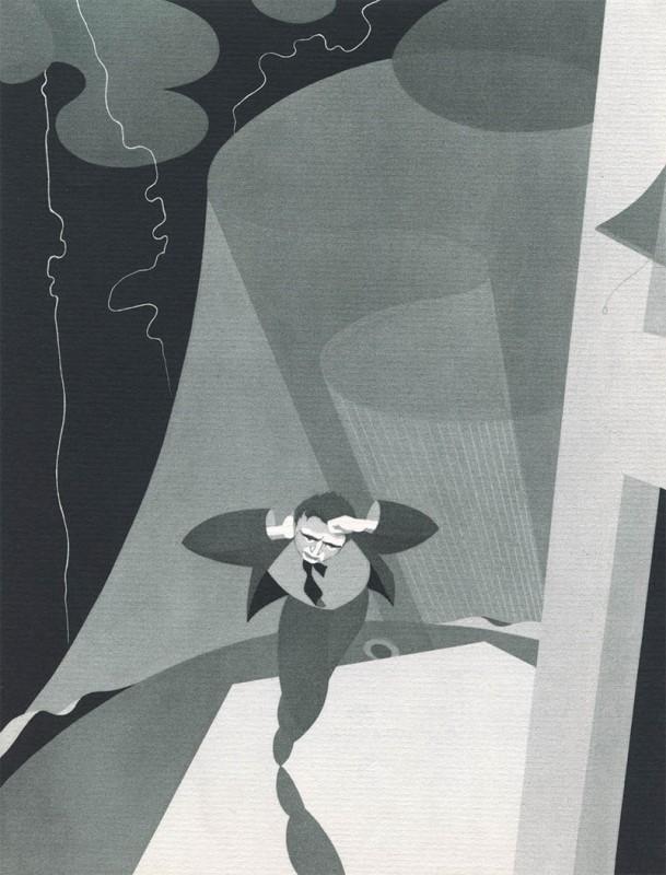 04 Astrophobia John Vassos 609x800 Les phobies illustrées de John Vassos  peinture 2 design art