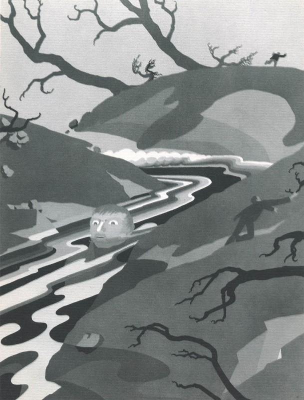 06 Potamophobia John Vassos 609x800 Les phobies illustrées de John Vassos  peinture 2 design art