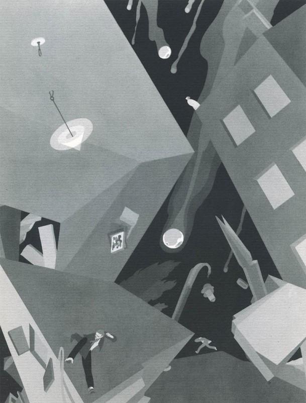 08 Batophobia John Vassos 609x800 Les phobies illustrées de John Vassos  peinture 2 design art