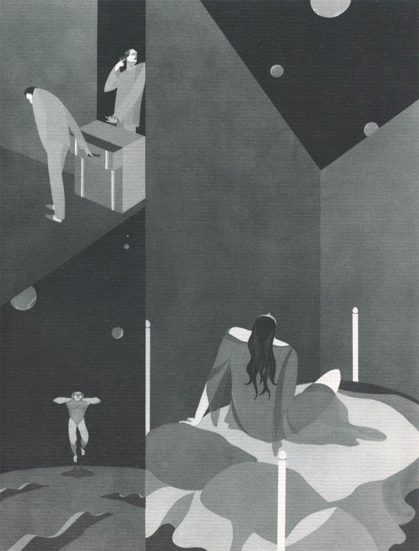 11 Monophobia John Vassos 609x800 Les phobies illustrées de John Vassos  peinture 2 design art