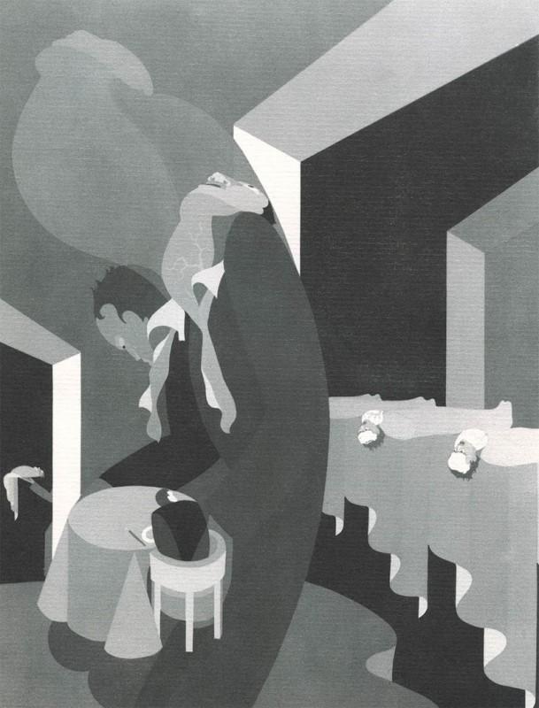 12 Phagophobia John Vassos 609x800 Les phobies illustrées de John Vassos  peinture 2 design art