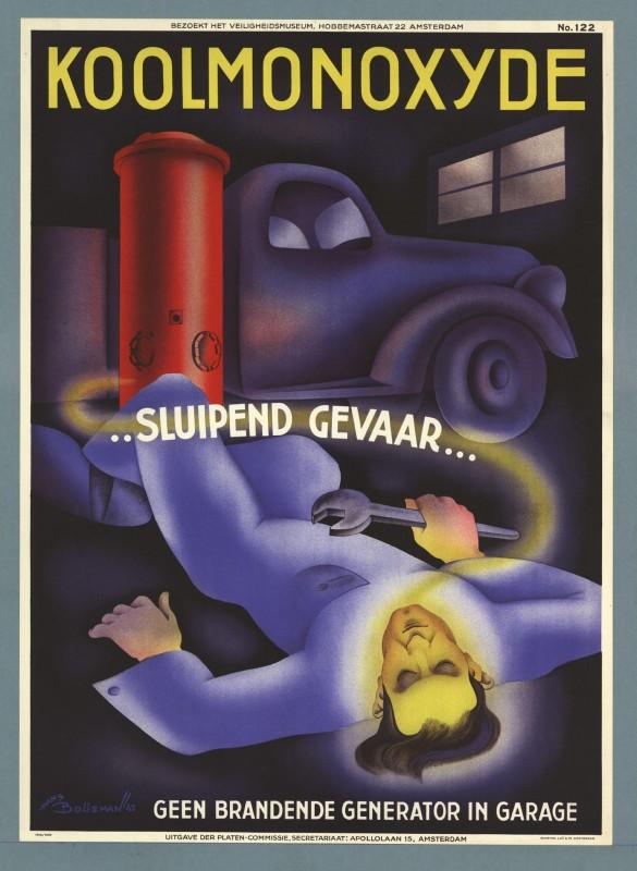 Fabuleux Affiches anciennes de sécurité au travail aux Pays-Bas « MKSIM. HV84